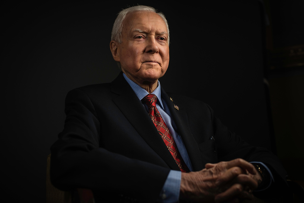 WASHINGTON, DC -- 12/21/17 -- Senator Orrin Hatch is the senior senator from Utah, Chairman of the Senate Finance Committee and President pro tempore of the United States Senate..…by André Chung #_AC27050