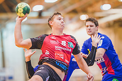 29.09.2018, Sporthalle Leoben-Donawitz, Leoben, AUT, HLA, Union JURI Leoben vs Sparkasse Schwaz HANDBALL TIROL, im Bild Sebastian Spendier (Sparkasse Schwaz HANDBALL TIROL) // during the Handball League Austria, match between Union JURI Leoben vs Sparkasse Schwaz HANDBALL TIROL at the sport Hall, Leoben, Austria, 2018/09/29, EXPA Pictures © 2018, PhotoCredit: EXPA/ Dominik Angerer
