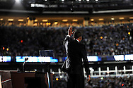 U.S. Senator Barack Obama speaks during his acceptance speech to become the Democratic party's candidate for president August 28, 2008 in Denver, Colorado