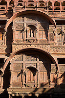 Inde, Rajasthan, Jodhpur la ville bleue, fort Mehrangarh // India, Rajasthan, Jodhpur, the blue city, Mehrangarh Fort