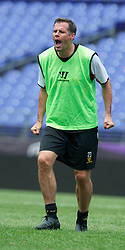 BALTIMORE, MD - Friday, July 27, 2012: Liverpool's Jamie Carragher during a training session ahead of the pre-season friendly match against Tottenham Hotspur at the M&T Bank Stadium. (Pic by David Rawcliffe/Propaganda)