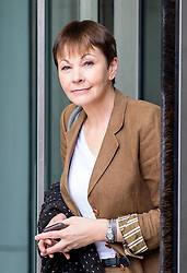© Licensed to London News Pictures. 02/04/2017. London, UK. Co-Leader of the Green Party Caroline Lucas leaving BBC Broadcasting House after appearing on The Andrew Marr Show this morning. Photo credit : Tom Nicholson/LNP