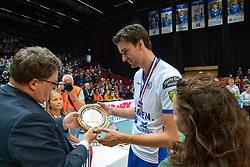 12-05-2019 NED: Abiant Lycurgus - Achterhoek Orion, Groningen<br /> Final Round 5 of 5 Eredivisie volleyball, Orion wins Dutch title after thriller against Lycurgus 3-2 / Wytze Kooistra #2 of Lycurgus