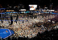 2012: Everyday Life. The First Lady of the United States Michelle Obama delivers her speech during the first day of the Democratic National Convention at Time Warner Cable Arena in Charlotte, NC, on Tuesday, September 4.<br />