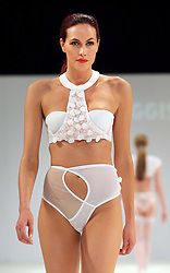 Lingerie designs by student Jade Boggis at the De Montfort University show  at Graduate Fashion Week in London , Monday, 3rd June 2013<br /> Picture by:  Stephen Lock / i-Images