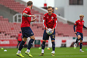 Marcel Ritzmaier of Barnsley during the EFL Sky Bet Championship match between Stoke City and Barnsley at the Bet365 Stadium, Stoke-on-Trent, England on 4 July 2020.