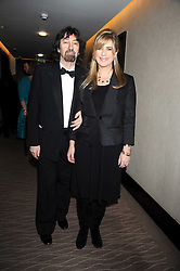 SIR TREVOR NUNN and his wife actress IMOGEN STUBBS at the 2008 Costa Book Awards held at the Intercontinental Hotel, Hamilton Place, London on 27th January 2009.