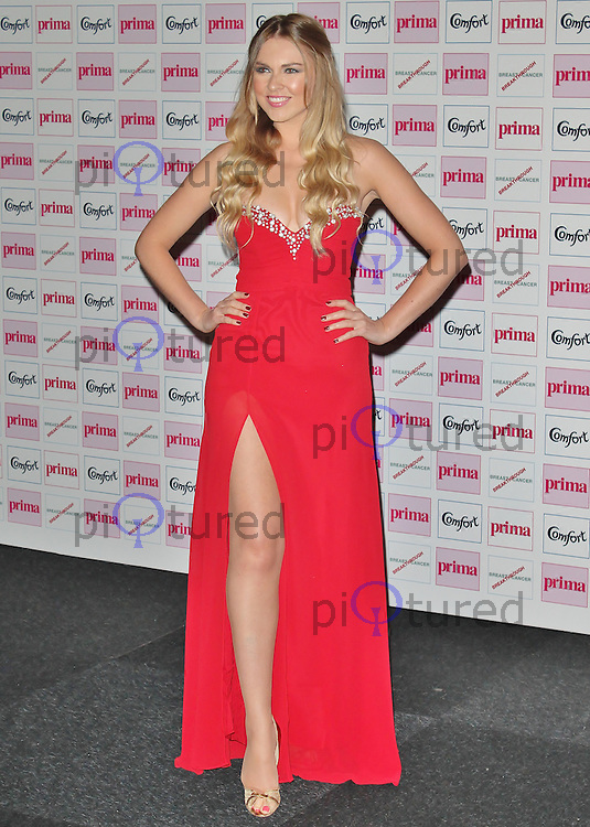 LONDON - September 13: Zoe Salmon at The Comfort Prima High Street Fashion Awards 2012 (Photo by Brett D. Cove)