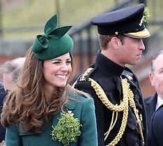 MAR 17 2014 Duke and Duchess of Cambridge at St.Patricks Day Parade
