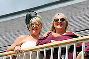 Ladies  at the York Dante Meeting at York Racecourse, York, United Kingdom on 17 May 2018. Picture by Mick Atkins.