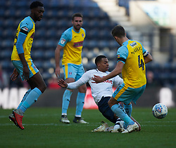 Lukas Nmecha of Preston North End (C) and Will Vaulks of Rotherham United in action - Mandatory by-line: Jack Phillips/JMP - 27/10/2018 - FOOTBALL - Deepdale - Preston, England - Preston North End v Rotherham United - English League Championship