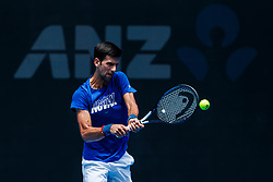January 11, 2019 - Melbourne, VIC, U.S. - MELBOURNE, VIC - JANUARY 12: NOVAK DJOKOVIC (SRB) during practice day of the 2019 Australian Open on January 12, 2019 at Melbourne Park Tennis Centre Melbourne, Australia (Photo by Chaz Niell/Icon Sportswire) (Credit Image: © Chaz Niell/Icon SMI via ZUMA Press)