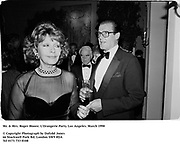 Mr. & Mrs. Roger Moore. L'Orangerie Party. Los Angeles. March 1990<br />