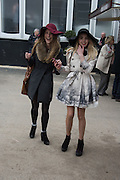 KATIE GRIFFITHS; CAITLIN PRICE-WARD, The Cheltenham Festival Ladies Day. Cheltenham Spa. 11 March 2015