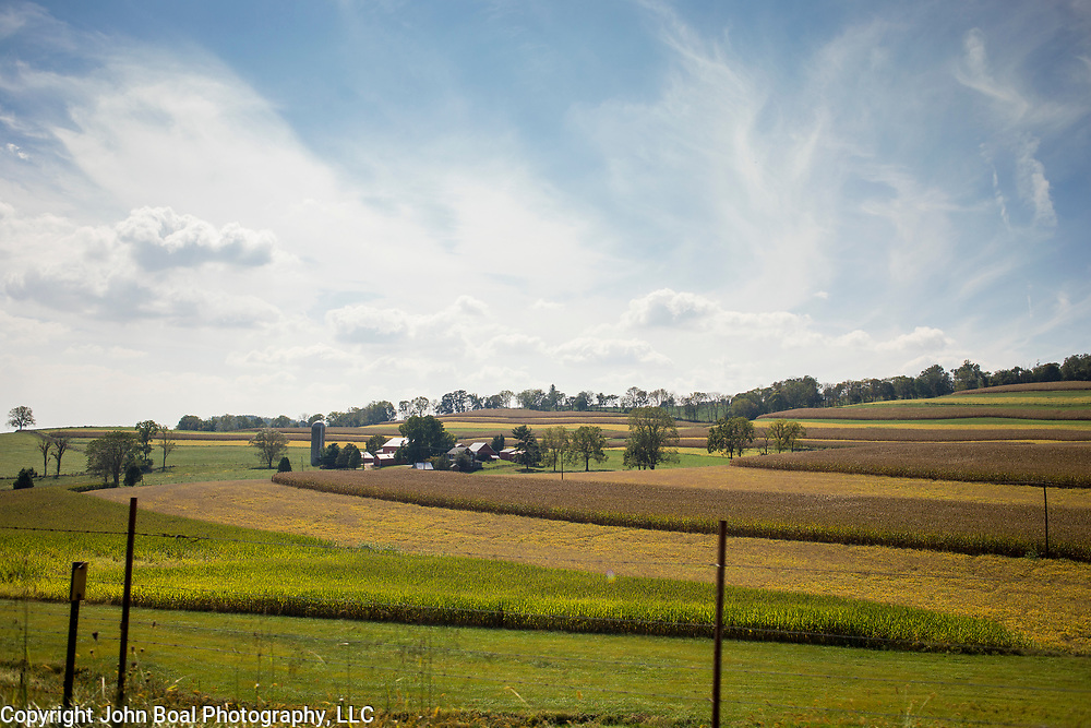 Farmland near Wolfsville, Maryland, on Tuesday, September 26, 2017. Formerly of Maryland's 6th District, Wolfsville is now part of the 8th District. The 6th was redistricted in 2011, combining rural northern Maryland regions with more affluent communities like near Washington D.C.<br />  <br /> CREDIT: John Boal for The Wall Street Journal<br /> GERRYMANDER