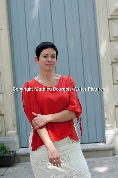 Sarah Hall is an English novelist and poet. Her critically acclaimed second novel, The Electric Michelangelo, was nominated for the 2004 Man Booker Prize. She currently lives in Norwich. Photographed at the Comedie du Livre in Montpellier, France. Taken 25th May 2012<br /> <br /> Picture by Mathieu Bourgois/Writer Pictures<br /> <br /> NO FRANCE