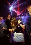 Girl dancing with lasers, 16/5/1997, Heat Hastings Pier