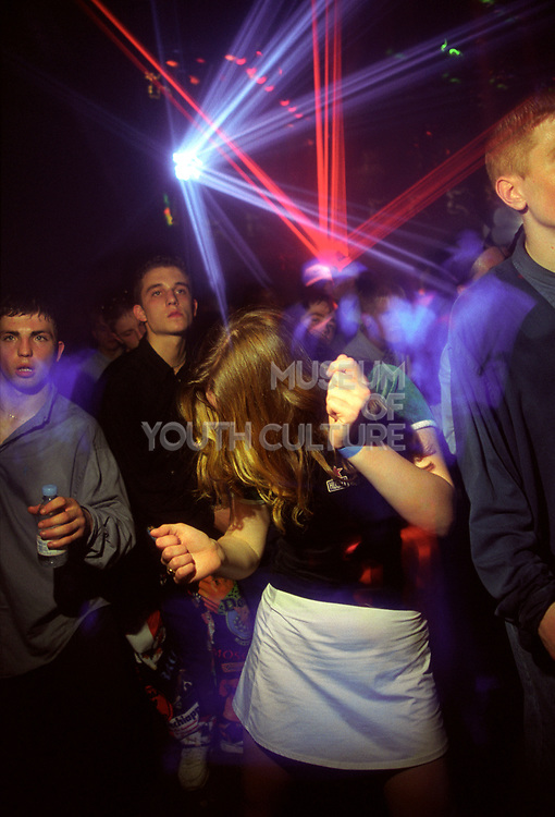Girl dancing with lasers, 16/5/1997, Heat Hastings Pier