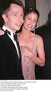 Gary Oldman and Donya Oldman. The Princess Ball, Beverly Wilshire Hotel. Beverly Hills. 21 March 1998 Film 98183f20<br />