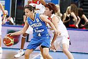 DESCRIZIONE : Riga Latvia Lettonia Eurobasket Women 2009 Quarter Final Spagna Italia Spain Italy<br /> GIOCATORE : Mariangela Cirone<br /> SQUADRA : Italia Italy<br /> EVENTO : Eurobasket Women 2009 Campionati Europei Donne 2009 <br /> GARA : Spagna Italia Spain Italy<br /> DATA : 17/06/2009 <br /> CATEGORIA : palleggio<br /> SPORT : Pallacanestro <br /> AUTORE : Agenzia Ciamillo-Castoria/E.Castoria
