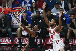 March 15, 2019 - Los Angeles, California, U.S - Los Angeles ClippersÃ• Shai Gilgeous-Alexander (2) goes to basket while defended by Chicago Bulls' Wayne Selden (14) during an NBA basketball game between Los Angeles Clippers and Chicago Bulls Friday, March 15, 2019, in Los Angeles. The Clippers won 128-121. (Credit Image: © Ringo Chiu/ZUMA Wire)