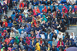 LIVERPOOL, ENGLAND - Wednesday, June 17, 2015: Spectators during Kids Day of the Liverpool Hope University International Tennis Tournament at Liverpool Cricket Club. (Pic by David Rawcliffe/Propaganda)