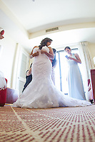 05 July 2014: Genesis Aguirre & Jonathan Lewis wedding at the LA River Center and Gardens in Los Angeles, CA.