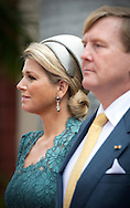 23-11-2013 VENEZUELA – CARACAS King Willem Alexander of the Netherlands and Queen Maxima in Caracas and meet Nicolás Maduro Moros  the president of Venezuela at the presidential palace Miraflores Palace. COPYRIGHT ROBIN UTRECHT