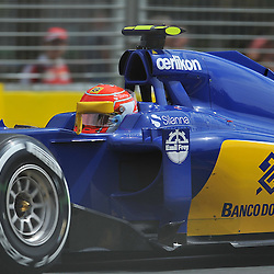 Felipe Nasr, Sauber F1 Team.<br /> Round 1 - Third day of the 2015 Formula 1 Rolex Australian Grand Prix at The circuit of Albert Park, Melbourne, Victoria on the 14th March 2015.<br /> Wayne Neal | SportPix.org.uk