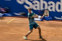 April 25, 2018 - Barcelona, Catalonia, Spain - ROBERTO CARBALLES BAENA (ESP) returns the ball to RAFAEL NADAL (ESP) during Day 3 of the 'Barcelona Open Banc Sabadell' 2018. Nadal won 6-4,6-4 (Credit Image: © Matthias Oesterle via ZUMA Wire)