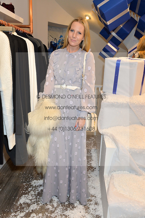 ALICE NAYLOR-LEYLAND at a party to celebrate 'Kitmas' at Kit & Ace at 80-82 Regent Street, London on 9th December 2015.