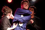 Théâtre sur la coche au lancement du 17e festival Vue sur la relève des arts de la scène du 4 au 21 avril 2012 /  le Lion d'Or / Montreal / Canada / 2012-03-06, © Photo Marc Gibert / adecom.ca