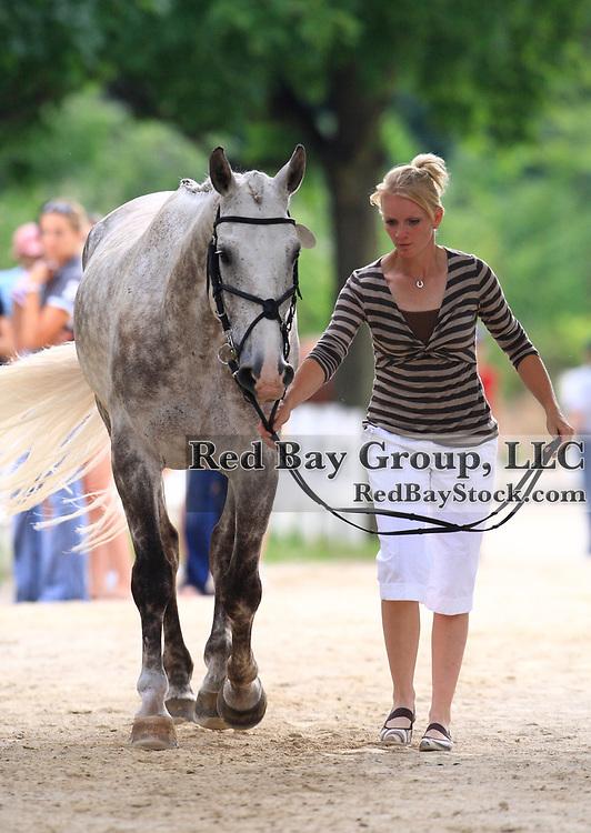 Philippa Humphreys and Grey Expectations at the 2009 Maui Jim Horse Trials in Wayne, Illinois.