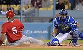 Mar 26, 2018-MLB-Spring Training-Los Angeles Angels at Los Angeles Dodgers