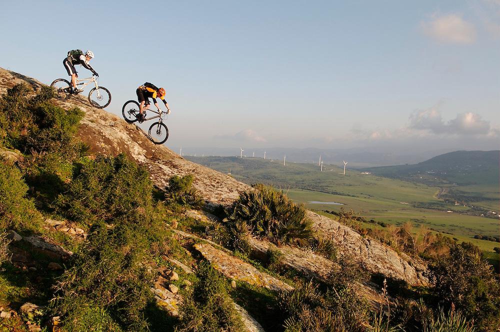 Evans Cycles catalogue shoot. Tarifa, Spain. January 2011