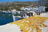 Grece, les Cyclades, ile de Amorgos, baie de Katapola, village de Xilokeratidi // Greece, Cyclades islands, Amorgos, Katapola bay, Xilokeratidi village