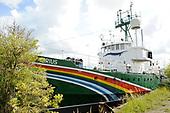 Het actieschip Arctic Sunrise van milieuorganisatie Greenpeace
