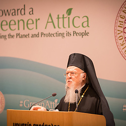 His All Holiness Patriarch Bartholomew opened the Green Attica Symposium in Athens.