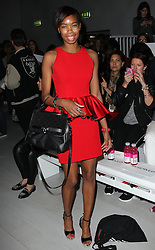 Tallulah Adeyemi at London Fashion Week for Spring/Summer 2013 Tuesday, September 18th 2012.  Photo by: Stephen Lock / i-Images