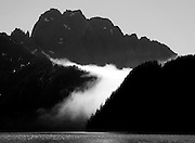 Fog rolling over the hills, Kenai Fjords National Park, Alaska. ..