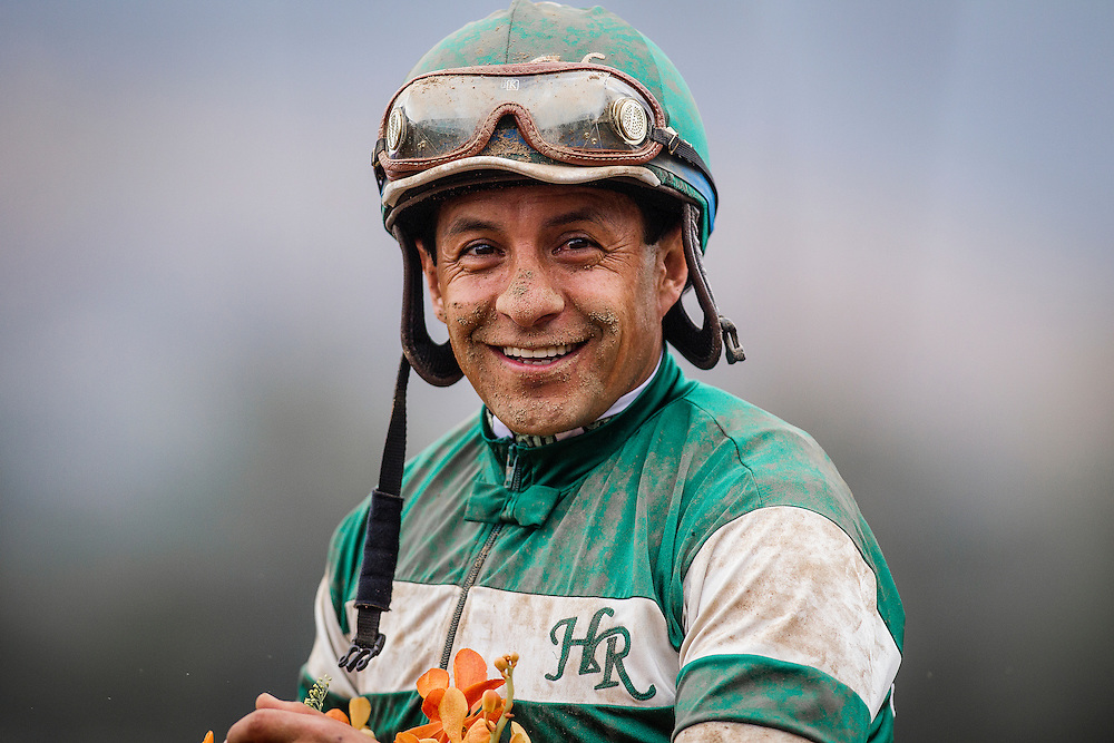 June 27 2015: Victor Espinoza at Santa Anita Park in Arcadia CA. Alex Evers/ESW/CSM