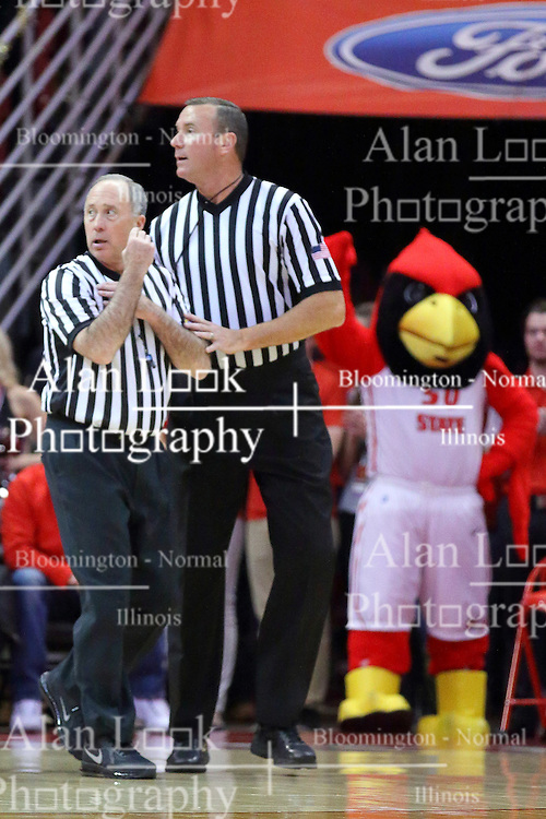 03 December 2016:  Bob Staffen and Brad Ferrie during an NCAA  mens basketball game between the New Mexico Lobos the Illinois State Redbirds in a non-conference game at Redbird Arena, Normal IL
