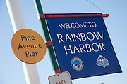 Rainbow Harbor In Long Beach California