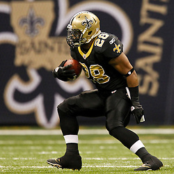 December 4, 2011; New Orleans, LA, USA; New Orleans Saints running back Mark Ingram (28) against the Detroit Lions during a game at the Mercedes-Benz Superdome. The Saints defeated the Lions 31-17. Mandatory Credit: Derick E. Hingle-US PRESSWIRE