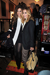 Left to right, AMBER LE BON and YASMIN LE BON at a party and fashion show to celebrate the 40th anniversary of Butler & Wilson held at Koko, 1 Camden High Street, London NW1 on 12th November 2009.