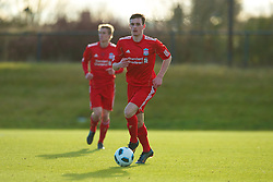 LIVERPOOL, ENGLAND - Tuesday, January 11, 2011: Liverpool's Jack Robinson in action against Sunderland during the FA Premiership Reserves League (Northern Division) match at the Kirkby Academy. (Pic by: David Rawcliffe/Propaganda)