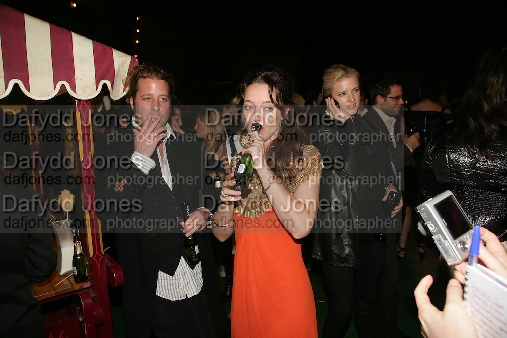 Lars von Bennigsen, Alice Temperley and Fiona Scarry , Moet Mirage, Holland Park. 16 September 2007. -DO NOT ARCHIVE-© Copyright Photograph by Dafydd Jones. 248 Clapham Rd. London SW9 0PZ. Tel 0207 820 0771. www.dafjones.com.