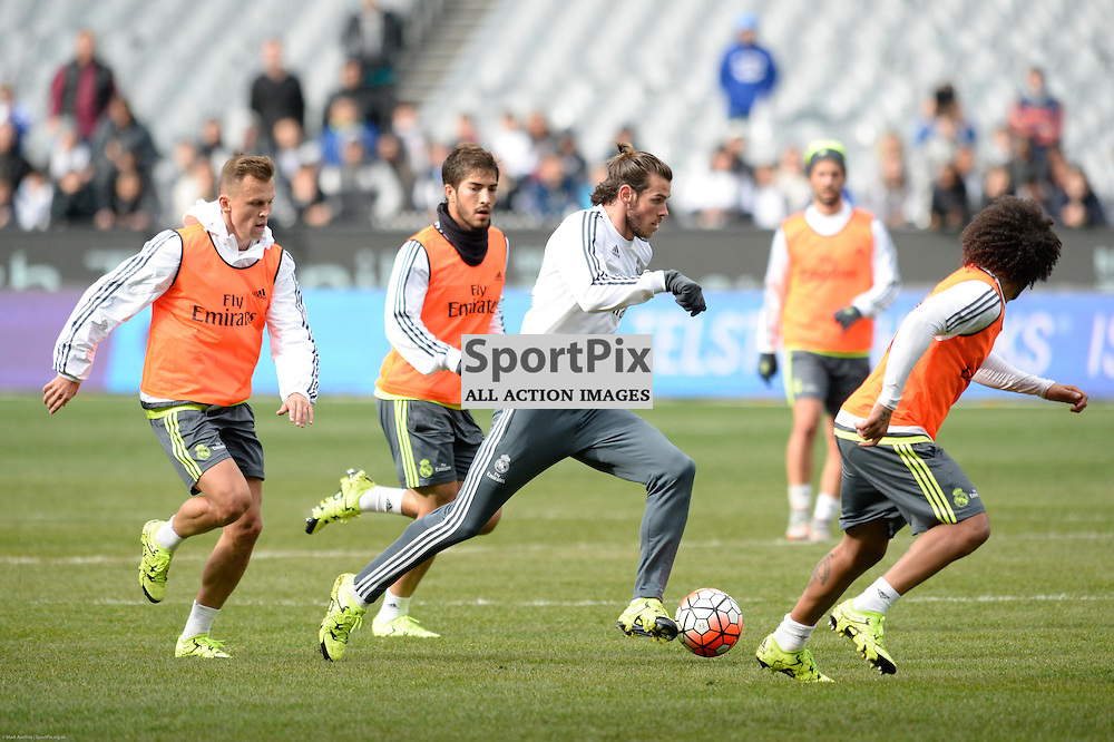 Real Madrid open training session at the Melbourne Cricket Ground, 17th July 2015 at an open training session for over 10,000 fans in the lead up to the International Champions Cup game against A.S. Roma.  Melbourne Australia. © Mark Avellino | SportPix.org.uk