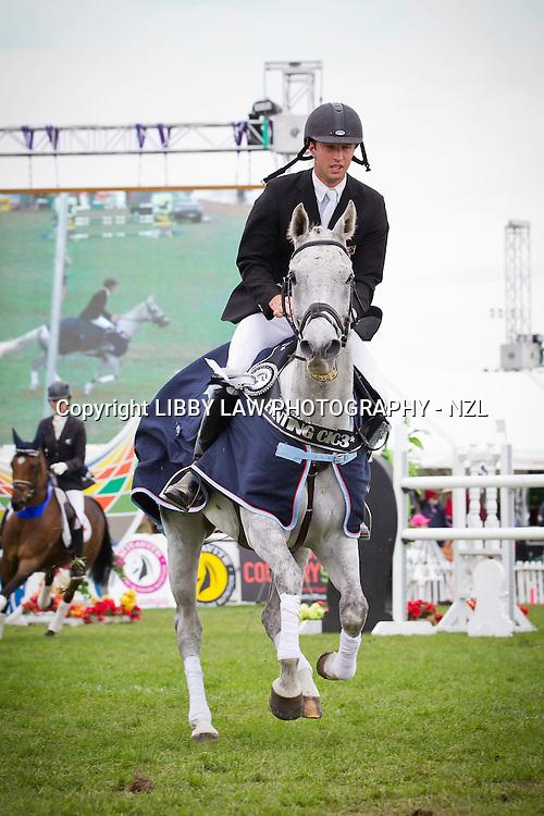 NZL-Simon Gordon (FLETCH.COM) TITLE WINNER-1ST: BELL TEA & COFFEE COMPANY HOY EVENTING CIC3*: 2013 NZL-Horse Of The Year Show: Prizegiving Sunday 17 March 2013