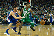 Boston Celtics Terry Rozier (12) during the NBA London Game match between Philadelphia 76ers and Boston Celtics at the O2 Arena, London, United Kingdom on 11 January 2018. Photo by Martin Cole.
